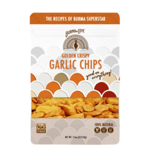 Burmese Golden Crispy Garlic Chips