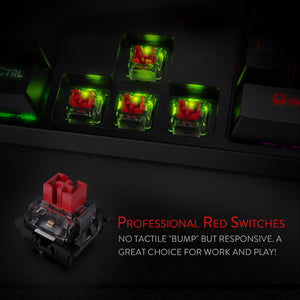 Redragon Fast Actuation 104 Key LED Backlit Mechanical Gaming Keyboard - Gaming-Shop.net