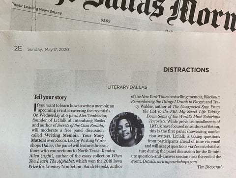 LitTalk in The Dallas Morning News!