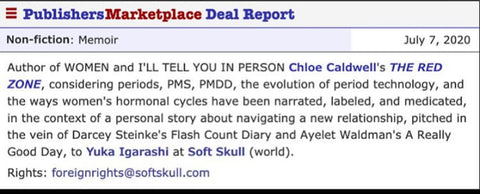 New Book Deal for Instructor Chloe Caldwell!