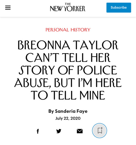 Read Sanderia Faye's Essay in The New Yorker