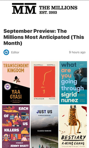 Jenny Bhatt Makes The Millions' Most Anticipated September Debuts!