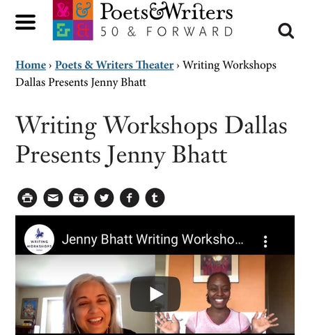 Writing Workshops Featured at Poets & Writers Theater!