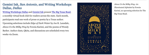Humanities Texas features The Big Texas Read!
