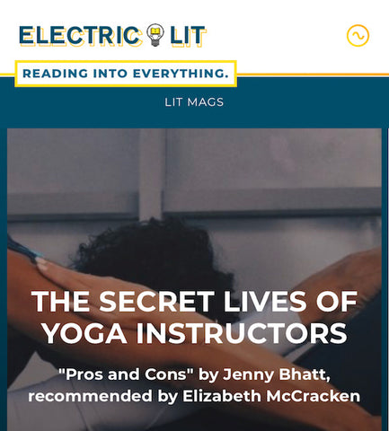 New Story by Instructor Jenny Bhatt at Electric Literature!