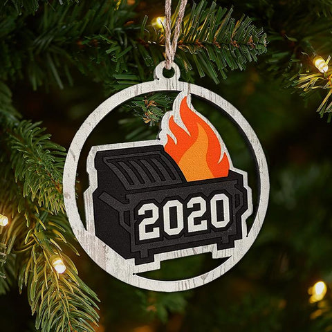 2020 Dumpster Fire Ornament Christmas Ornament CWS