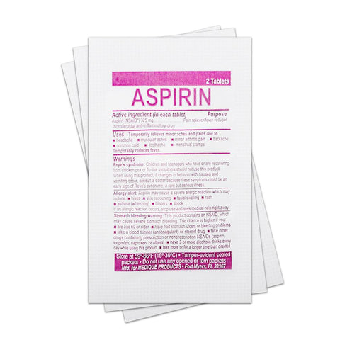 Aspirin (Single Packet) Medication / Supplement Moore Med / Medi-First