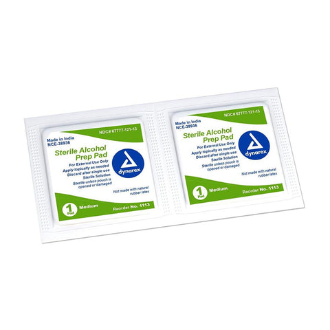Alcohol Prep Pad Wipes Medication / Supplement Dukal / Dynarex