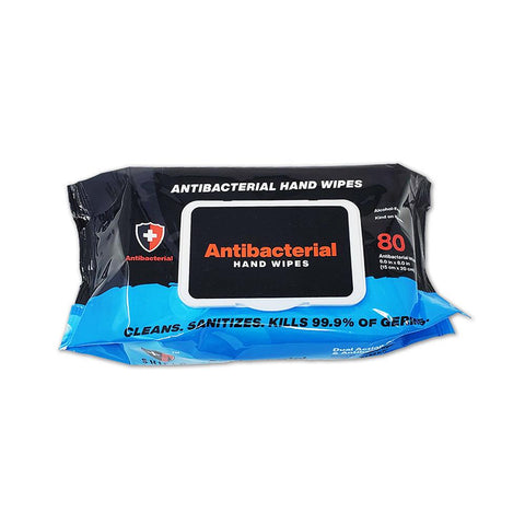 Antibacterial Disinfectant Wipes (Pack of 80) First Aid Supplies Benchmark