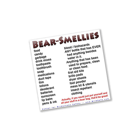 Bear Smellables (Vinyl Decal) Decal CWS