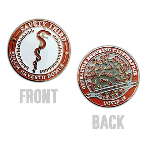 Safety Third COVID-19 Challenge Coin Challenge Coin Hawk Ventures