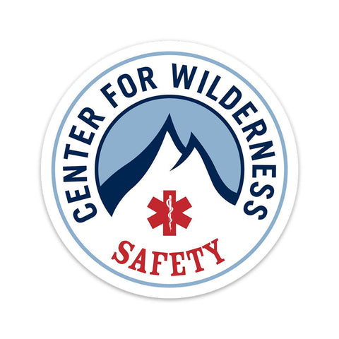 Center for Wilderness Safety - Round (Vinyl Decal) Decal Center for Wilderness Safety
