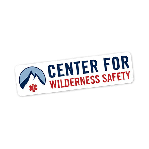 Center for Wilderness Safety - Rectangular (Vinyl Decal) - RestockYourKit.com