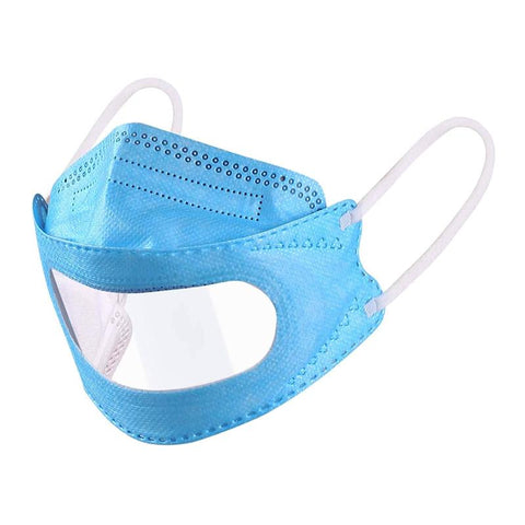 Clear-Window Surgical Face Mask First Aid Supplies BITLY Blue