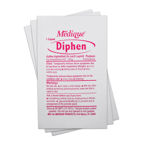 Diphenhydramine (Benadryl; Single Packet) Medication / Supplement Moore Med / Medi-First