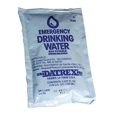 Datrex Water Pouches, 4 oz (Single) First Aid Supplies Datrex