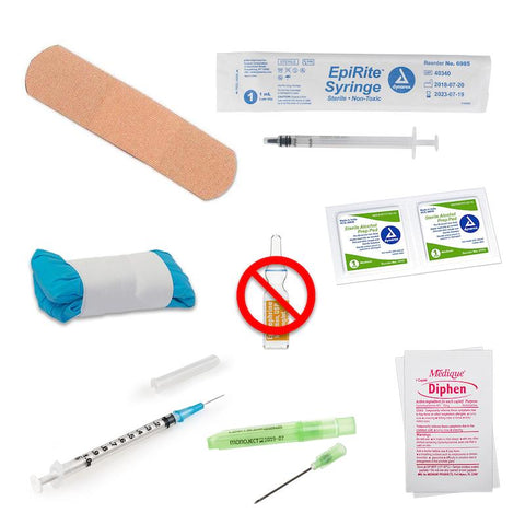 Epi-Kit Manual Injection Kit (EpiPen Substitute) Kit CWS