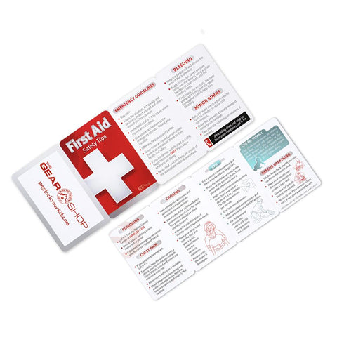First Aid Guide Wallet Card - RestockYourKit.com