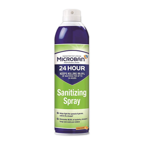 Microban 24 Sanitizing Spray First Aid Supplies Proctor + Gamble 15 oz Aerosol