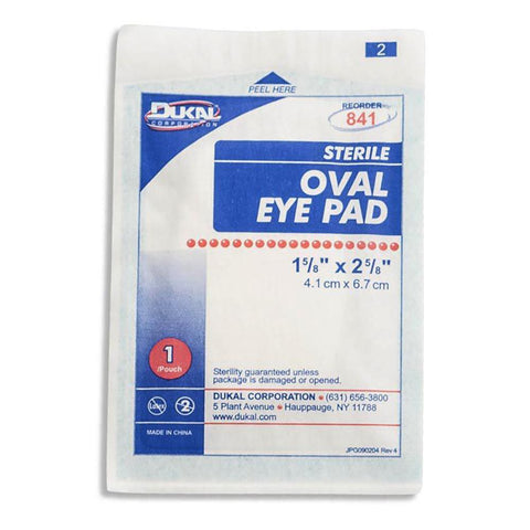 Gauze Oval Eye Pad (Sterile) First Aid Supplies Dukal / Dynarex