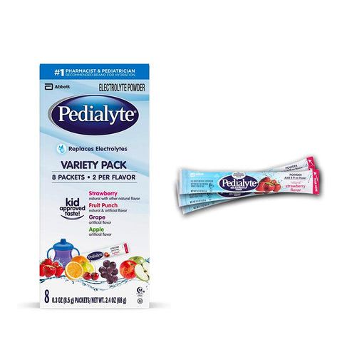 PediaLyte Oral Electrolyte Powder Packs Medication / Supplement Abbott