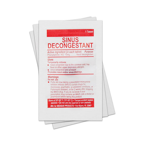 Sinus Decongestant (Single Packet) Medication / Supplement Moore Med / Medi-First