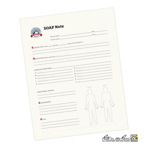SOAP Note (Patient Care Documentation Form) - RestockYourKit.com