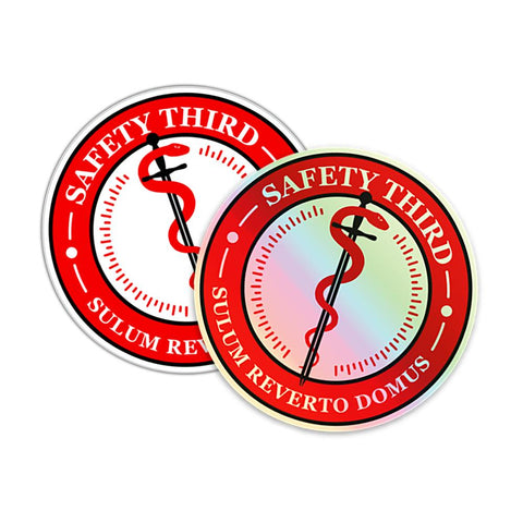"Weatherproof ""Safety Third"" Decal - RestockYourKit.com"
