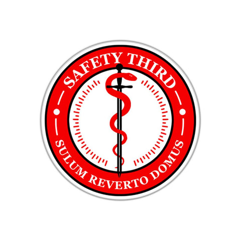 Weatherproof Safety Third Decal - RestockYourKit.com