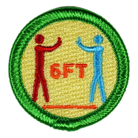 Social Distancing - Adult Merit Badge - RestockYourKit.com