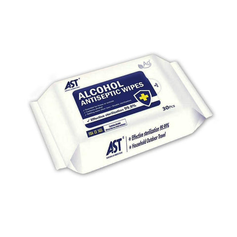 Alcohol Disinfectant Wipes (Pack of 30) First Aid Supplies AST