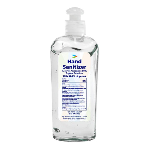 Hand Sanitizer (6 oz) First Aid Supplies Safetec