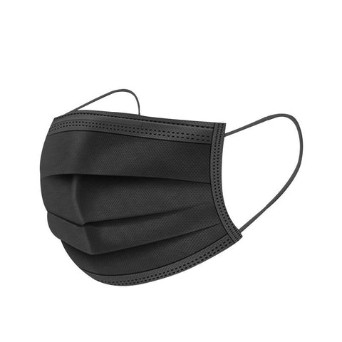 Surgical Face Mask (BLACK) First Aid Supplies BITLY
