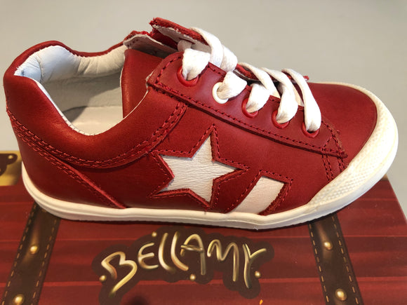Chaussures basses Bellamy cado rouge