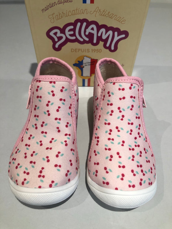 Chaussons bellamy Perle cerise rose