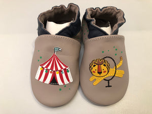 Chaussons robeez lion circus gris taupe