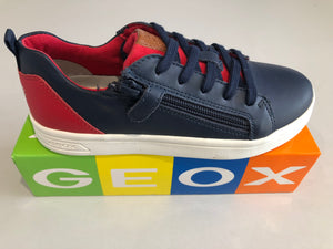 Chaussures basses Geox DJ rock navy red