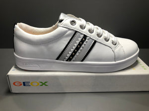 Chaussures basses Geox j djrock nappa white silver