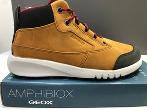 Bottines Geox j aeranter brown red
