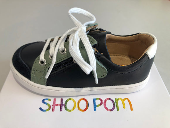 Chaussures basses shoo pom Play Lo bi zip navy lichen white