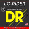 D.R Stainless Steel Lo-Rider Bass Strings 45-100