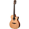 LAG TN170ASCE Auditorium Red Cedar Natural Slim Cutaway Electro Nylon Acoustic Guitar