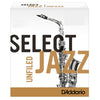 D'addario Select Jazz UnFiled Strength 3 Medium Tenor Saxophone Reeds Pack of 5