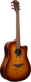 LAG T118DCE BRS Dreadnought Brown Shadow Solid Top Red Cedar Cutaway Electro Acoustic Guitar