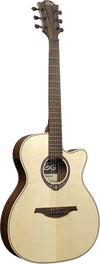 LAG T270ASCE Auditorium Natural Engelmann Spruce Slimbody Electro Cutaway Acoustic Guitar