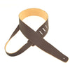 "Henry Heller Guitar Strap 2.5"" Adjustable Deluxe Basket Weave Leather Strap HBW25 Brown"