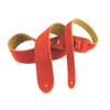"Henry Heller Guitar Strap 2"" Basic Suede HBS2 Orange"