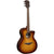 LAG T118ACE BRS Auditorium Sunburst Solid Top Red Cedar Electro Cutaway Acoustic Guitar