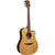 LAG T118DCE Dreadnought Natural Solid Top Red Cedar Electro Cutaway Acoustic Guitar