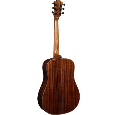 LAG T118D Dreadnought Natural Solid Top Red Cedar Acoustic Guitar